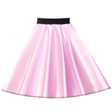 LADIES 50s Costume GREASE Plain SATIN or Polyester Jive Rock n Roll Circle Skirt