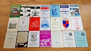 Scottish Club Rugby Union Programmes ' J - Z ' 1964 - 2014