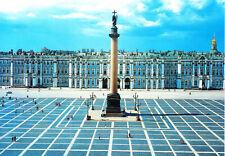 AK,Russland, St. Petersburg, Schloßplatz, Der Winterpalast mit Alexander-Säule