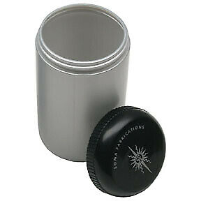 Soma Stash Bottle, Small - Silver/Black