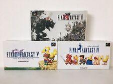 Nintendo Super Famicom FINAL FANTASY 4 5 6 IV V VI Set JAPAN JP GAME BOX z1894