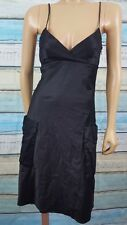 ARMANI EXCHANGE Size 2 Polyester Blend Knee Length Black  A-Line Dress