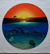 WYLAND WARMTH OF THE SEA GICLEE ON CANVAS SIGNED #242/750 W/COA DOLPHINS