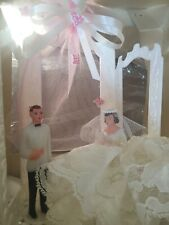 Vintage 1940's Hand Made & Hand Painted Wedding Cake Topper