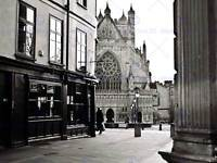 PHOTOGRAPHY CITYSCAPE EXETER DEVON ENGLAND CATHEDRAL ALLEY PRINT POSTER MP3304B