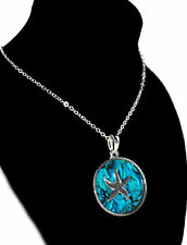 Tide Jewellery Inlaid Blue Paua Shell Starfish Necklace Boxed