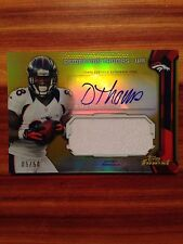 2013 Topps Finest Demaryius Thomas Autograph Card And Jumbo Patch 05/50