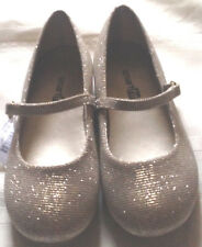 Shoes dress girls size 11M new EUR 28.5 gold Smartfit fabric man made materials