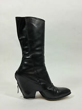 Modern NIB Black Nappa leather zip-back 'Wynn' Boots by Maria Cornejo size 39.5
