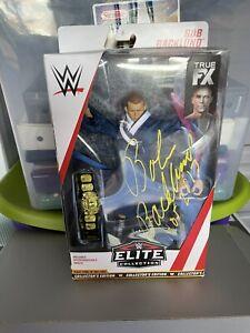WWE MATTEL ELITE BOB BACKLUND AUTOGRAPH SIGNED MOC RARE!!