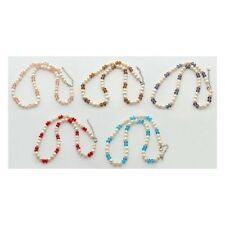 Wholesale Lot 6 Mixed Luster Freshwater Pearl Faceted Crystal Necklaces Jewelry