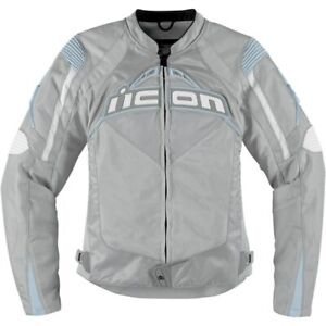 Icon Women's Contra Jacket Silver size Small