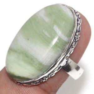 Larsonite Ethnic Handmade Gemstone Ring US Size-8 JW