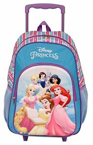 Princess- Disney - Back Pack With Wheels -Brand New DIS179