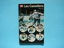 1982/83 MONTREAL CANADIENS NHL HOCKEY MEDIA GUIDE YEARBOOK ANNUAIRE GUY LAFLEUR