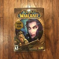 World of Warcraft Game of the Year Blizzard PC Game 5 Disc Set 2004 Original Box