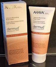 Ahava Dermud Intensive Nourishing Body Cream Dead Sea Labs 6.8 fl oz 200 ml NIB