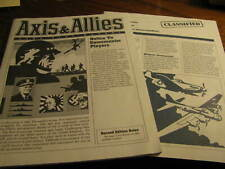 1984 Axis & Allies Spring 1942  Replacement Game Play Manual    Flat #S