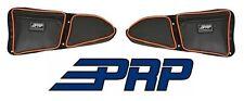 PRP Seats Door Bags - Front Both Sides Black / Orange for 2014-2017 Polaris RZR