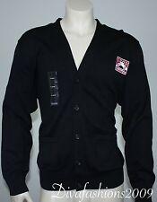 NWT IZOD CENTER Black Sweater Cotton Men's V-NECK Cardigan Shirt Size 3XL-XXXL
