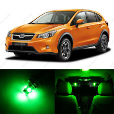6 x Green LED Interior Lights Package For 2013 and Up Subaru XV Crosstrek