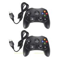2 X Wired GamePad Controller Dual Shock Joypad for Microsoft Original Xbox Black