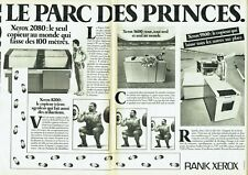 Publicité Advertising 079  1981   Rank Xerox  photocopieurs (2 pa) Parc Princes
