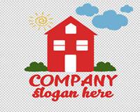 Fertige Logovorlage, Firmenlogo,Template #026 Vektorgrafik, Immobilien, Home