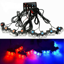 12v 16led Car Police Strobe Flash Light Dash Emergency Warning Lamp Kit Redblue