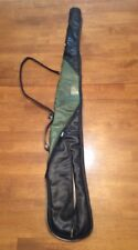 Unbranded Soft Padded Gun Rifle Case Black Green With ID Slot Hunting Gear