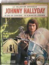 Johnny Hallyday La collection officielle Livre CD Flagrant délit