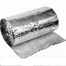 DOUBLE SILVER FOIL CELL AIR BUBBLE INSULATION 12 M L 75CM W-OZ MADE