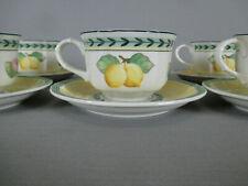 6 tasses à thé et sous tasses Fleurence French Garden Villeroy Boch
