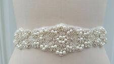 Wedding Belt, Wedding Sash, Bridal Sash, Rhinestones - 22 inches of beading