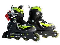 ROCES  Girls/Boys/Kids Inline Roller Skates Adjustable  US 4-7 EU 36-40 Green