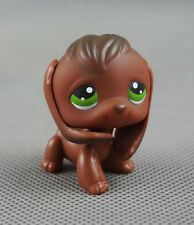 Littlest Pet Shop LPS Toys #77 Chocolate Brown Puppy Green Eyes Beagle Dog Gift