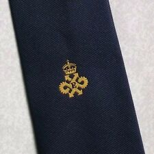 QUEEN'S AWARD EXPORT TIE VINTAGE RETRO CREST 1980s ASSOCIATION CLUB LOGO MOTIF