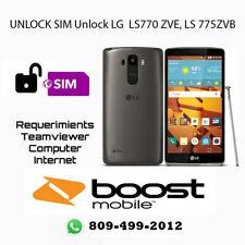 Unlock LG LS770ZVE, LS775 ZVB Boost Mobile, Remote / Service