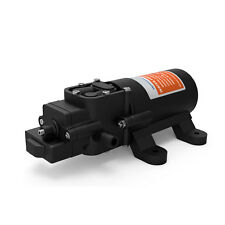 Black RV Marine DC 12V 1.2GPM 80PSI Pressure Demand Water Self Priming Pump