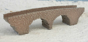 N GAUGE N SCALE OLD 2 ARCH STONE BRIDGE LASER CUT AND ENGRAVED PRO PAINTED