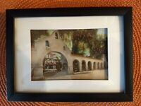 Framed Vintage Postcard Riverside California Glenwood Mission Inn