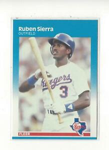 1987 Fleer #138 Ruben Sierra RC Rookie Rangers