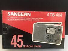 Sangean Ats 404 Portable Digital World Band Radio Receiver New Nib