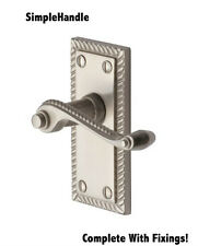 Satin Brushed Chrome Georgian Roped Latch Handle