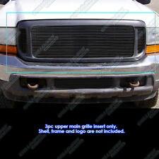 Fits 99-04 Ford F250/F350/Super Duty/Excursion Black Billet Grille