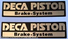 SUZUKI RG400 RG500 GSXR750 GSXR1100 DECA PISTON FORK CAUTION WARNING DECALS X 2