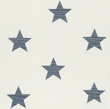 BAMBINO BIG STARS NURSERY CHILDRENS BOYS GIRLS FEATURE WALLPAPER RASCH 245622
