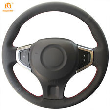 Black Leather Steering Wheel Cover Wrap for Renault Koleos 2009-2014 Samsung QM5