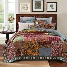 DaDa Bedding Elegance Floral Paisley Bohemian Patchwork Quilted Bedspread Set