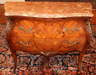Gorgeous Italian Inlaid Marble Top Server Chest Commode